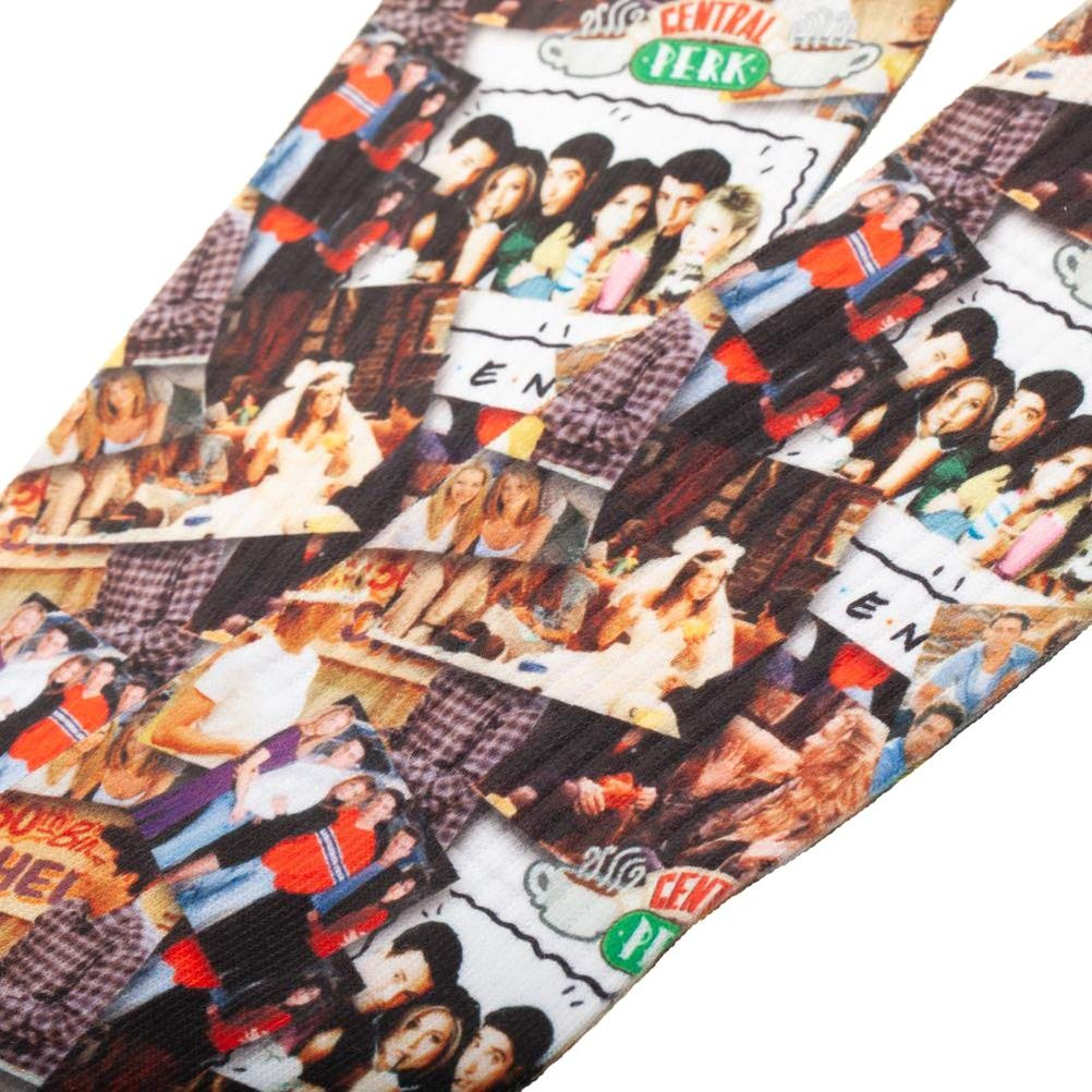 FRIENDS TV Show Scenes Collage All Over Sublimated Print Crew Socks