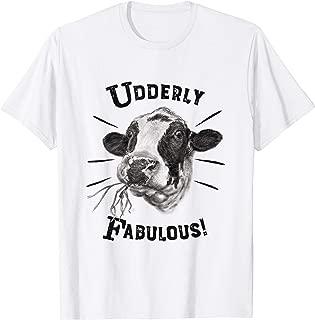 Funny Pun Utterly Fabulous Holstein Cow T-shirt