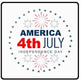 4th July, American Independence Day Greeting Card