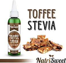NatriSweet Toffee Stevia Liquid Drops (2 fl oz / 60 Milliliter), Zero-Calorie Natural Sugar Substitute, Highly Concentrate...