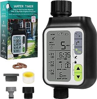 Bearbro Minuterie D'irrigation Automatique,Minuterie Arrosage Automatique pour Jardin,Programmateur Arrosage Automatique,a...