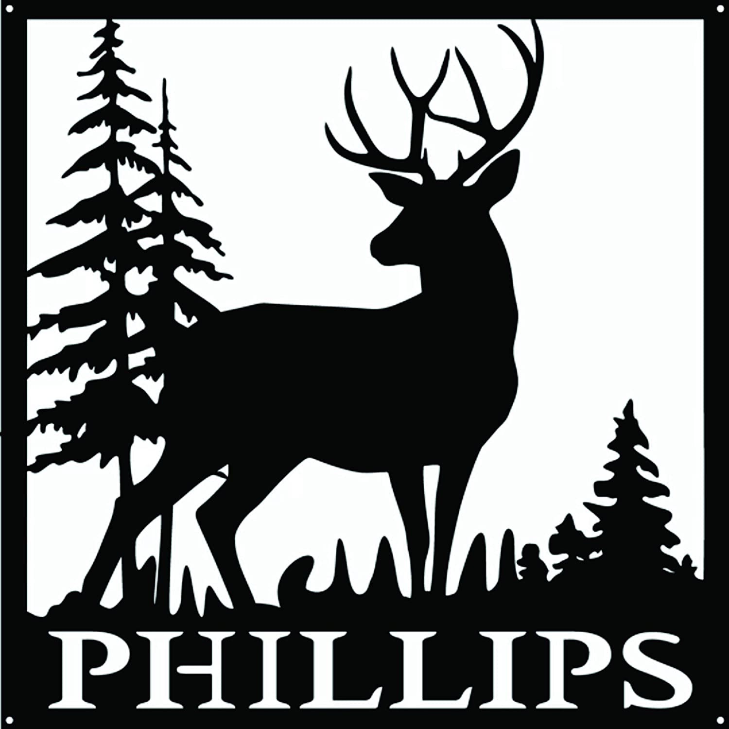 AJD Designs Buck and Today's only Trees Wall Metal Monogram Free shipping on posting reviews 20 Art
