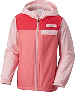 Columbia Mountain Side Lined Windbreaker Jacket, Cherry Blossom/Lollipop, XX-Small
