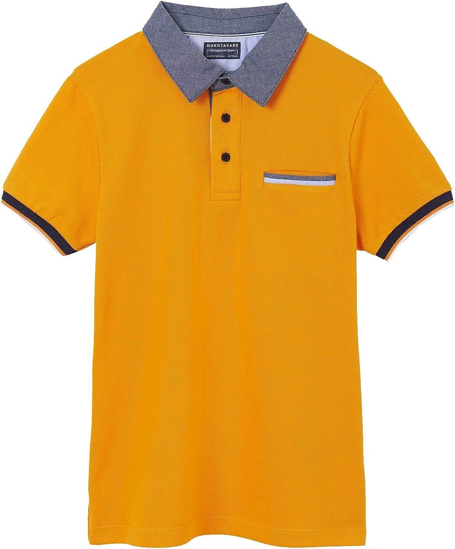 Mayoral - S/s Polo for Boys - 6107, Dark Peach