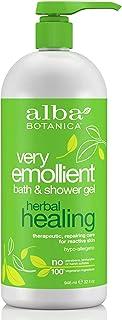 Alba Botanica Very Emollient Bath & Shower Gel, Herbal Healing, 32 Oz
