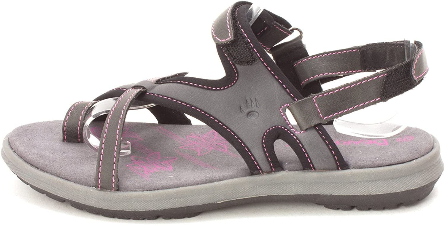 Bearpaw Womens Marlene Leather Open Toe Casual Sport Sandals