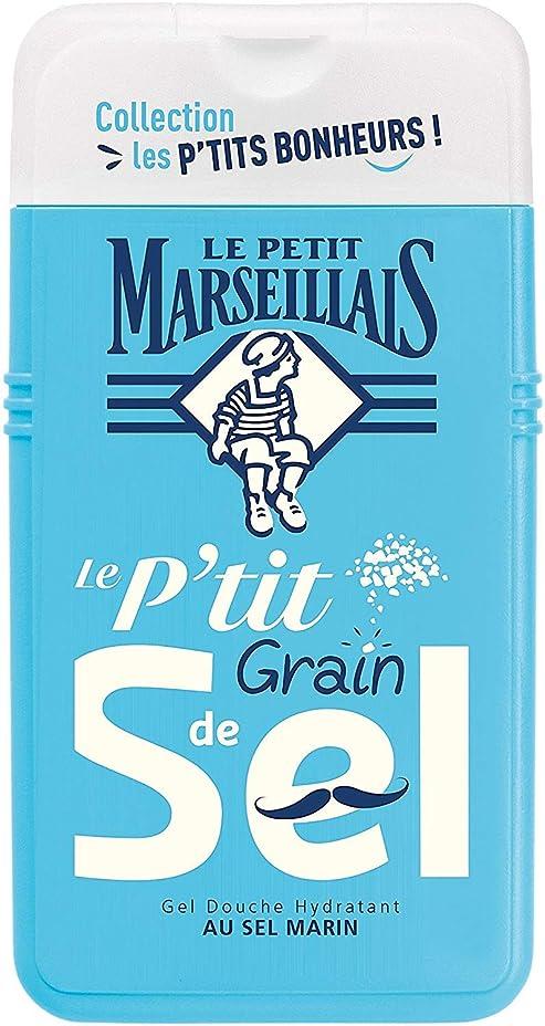 中絶文字沿って「海塩」シャワージェル ???? フランスの「ル?プティ?マルセイユ (Le Petit Marseillais)」 les P'TITS BONHEURS 250ml ボディウォッシュ