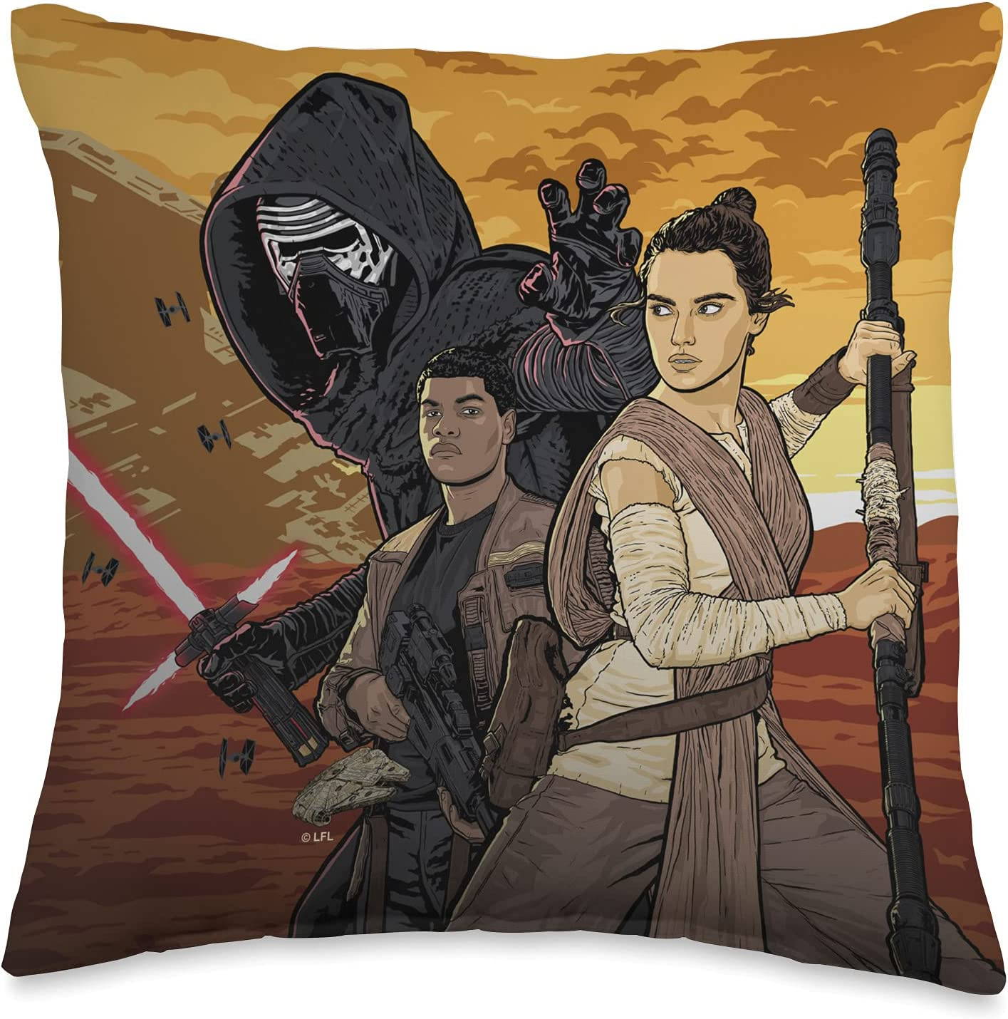 Today's only Star Wars Force Awakens Exclusive Illustrated Pillow Deluxe Group Throw