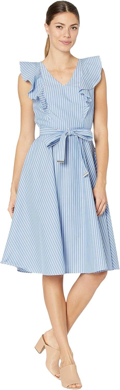 Tommy Hilfiger Women's Cotton Fit & Flare Dress