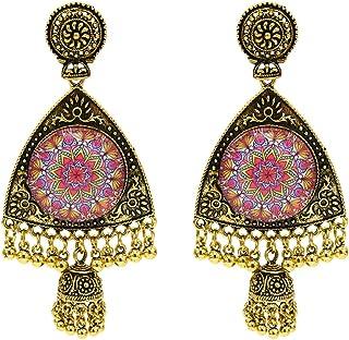 Dgxd New Retro bell Tassel Earrings national style exotic tourism Earrings(E)