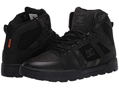 DC Pure High-Top WR Boot (Black Camouflage) Men