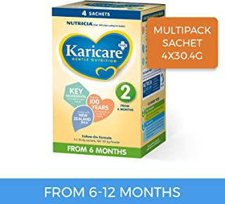 Karicare Plus Follow-On Formula Stage 2 Multipack Sachet, 4 Pack, 121.6 Grams