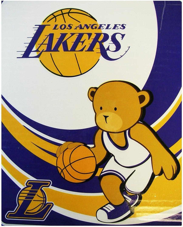 NBA Los angeles Lakers Royal Plush Raschel Throw - Lakers Blanket 50inx 40in