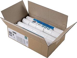 Exacompta - Réf. 44809E - Carton de 50 bobines pour carte bancaire 57x35mm - 1 pli thermique 44g/m2 sans BPA - Blanc - Mét...