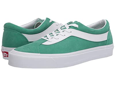 Vans Bold Ni ((Suede) Green Spruce/True White) Athletic Shoes