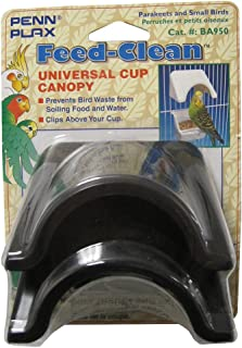 Pennplax 2-Cup Cover Small Parakeet Feeder