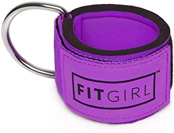 FITGIRL The Best Ankle Strap for Cable Machines and Resistance Bands, Work Out Cuff Attachment for Home & Gym, Booty ...