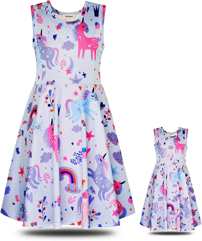 ModaIOO Matching Dolls /& Girls Casual Dress