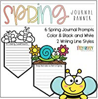 Spring Journal Writing Prompt Banner - Writing Crafts - Literacy Centers