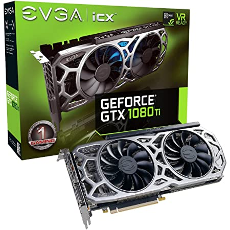 EVGA GeForce GTX 1080 Ti SC2 Gaming, 11GB GDDR5X, iCX Technology - 9 Thermal Sensors & RGB LED G/P/M, Asynch Fan, Optimized Airflow Design Graphics Card 11G-P4-6593-KR (Renewed)