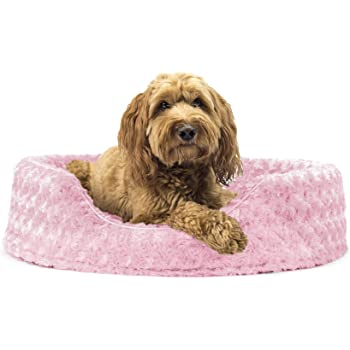 Furhaven Pet - Calming Anti-Anxiety Round Oval Nest Lounger Dog Bed with Removable Base for Dogs & Cats - Multiple Styles, Sizes, & Colors