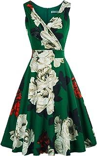 GRACE KARIN Mujer Vestido Elegante Años 50 Vestido de Mujeres Rockabilly Clásico L CLE02811-4