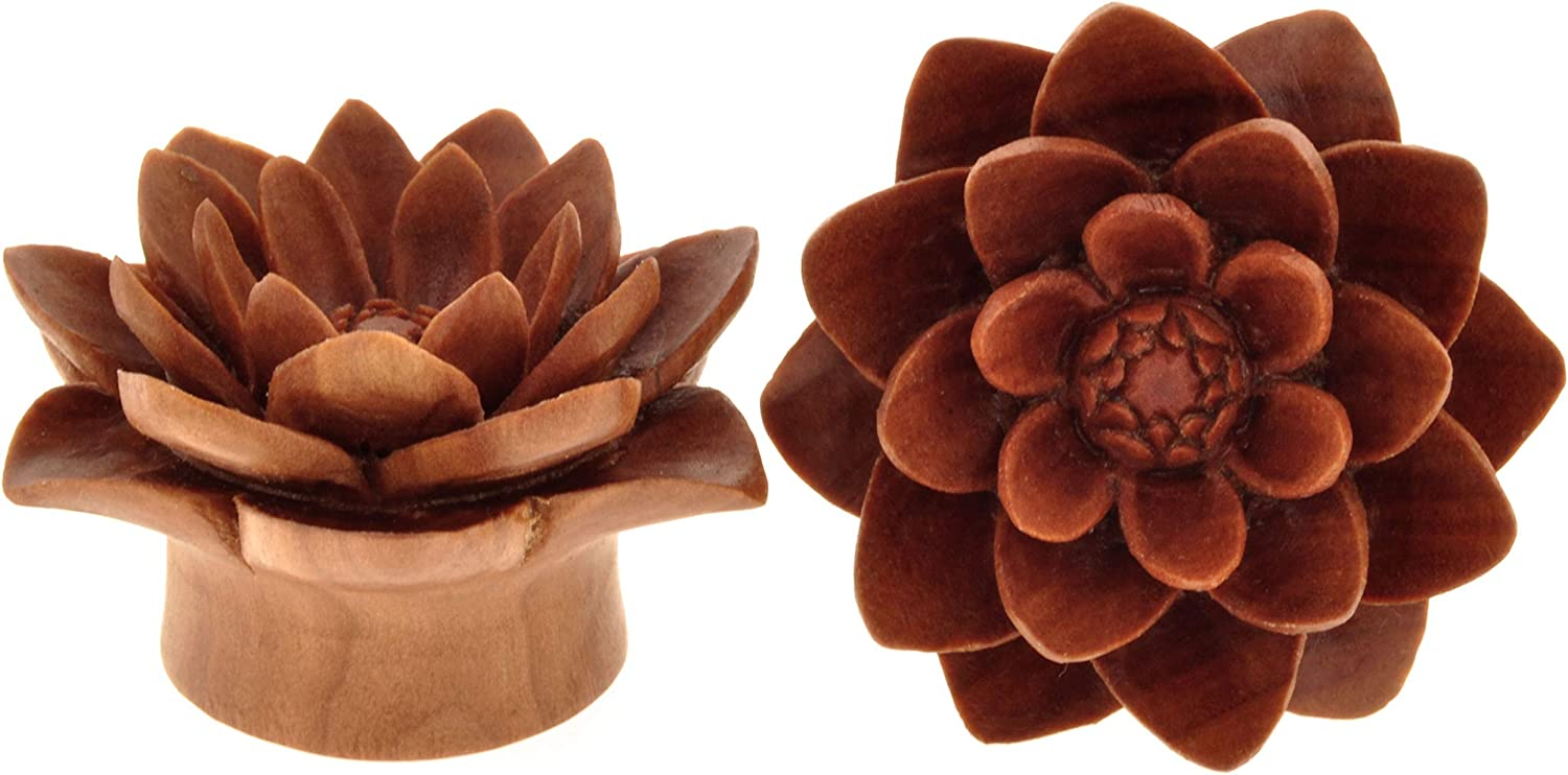 Ranking TOP20 Pair of Sabo Wood Plugs Quality inspection Water Lily