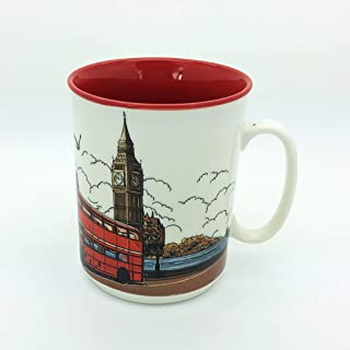 Sterling Product SP144B Premium Quality Embossed Printed 400 ml Coffee Mug, Ceramic, 400 milliliters