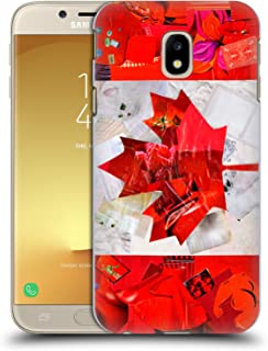 Official Artpoptart Canada Flags Hard Back Case Compatible for Samsung Galaxy J3 (2017)