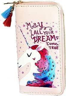 Timlee Cute Rainbow Unicorn Long Wallets Long Purse