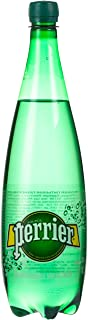PERRIER Natural Sparkling Mineral Water, 1 Liter (Pack of 6)
