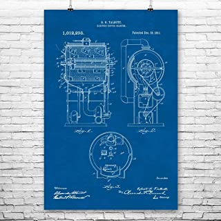 Drum Coffee Roaster Poster Print, Barista Gifts, Coffee Shop, Cafe Manager, Connoisseur Brewer, Espresso Lover Blueprint (9