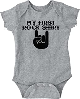 First Rock Shirt Funny Hardcore Rocker Baby Romper Bodysuit