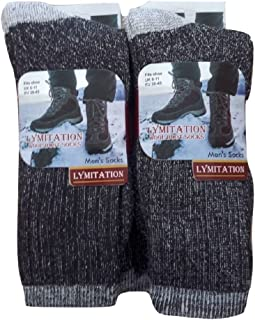 6 Pairs Lambs Wool Merino Blend Hiking Work Socks MSQ1740 6-11