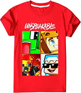 LeosWare Unspeakable Shirt Boys Girls 3D Printed Cartoon Crew Neck T-Shirts Short Sleeve Tops Tees for Kids Youth