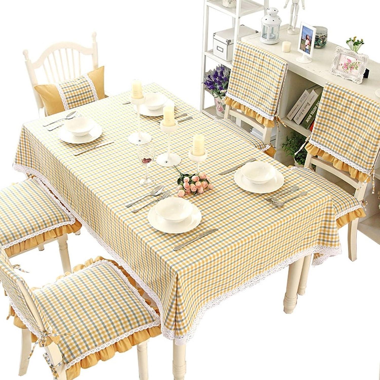 JIANFEI Rechteck Tischdecke Gitter praktisch Rutschfest Gelb, 9 Gren verfügbar (gre   140  240cm)