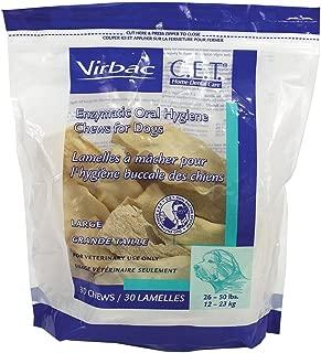Virbac C.E.T Enzymatic Oral Hygiene Large Dog Chews, 90-Chew, by Virbac