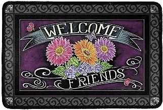 Belidome Vintage Welcome Friends Sunflower Design Doormat Entrance Non Slip Durable Home Bathroom Decor