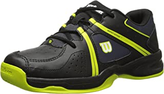 Wilson Envy JR Tennis Shoe (Little Kid/Big Kid), Coal/Black/Solar Lime, 12 M US Little Kid