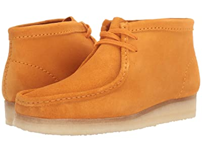 Clarks Wallabee Boot (Burnt Yellow Suede) Women