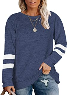 Womens LS Sweater Burgundy Blue Long Cowl Neck Striped Plus Size 1X 2X 16 18 NEW