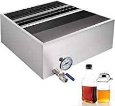 VBENLEM Maple Syrup Evaporator Pan 24x24x9.4 Inch Stainless Steel Maple Syrup Boiling Pan with Valve and Thermometer and Divided Pan