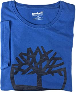 Timberland Men's Short Sleeve Camouflaged Tree Logo Cotton T-Shirt