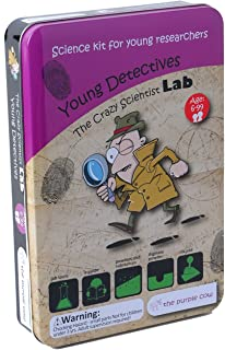 The Purple Cow Science Kits for Kids - Young Detectives - The Crazy Scientist Series. for Learning & Education - STEM Educational Games for Kids, Boys & Girls, with Instructions