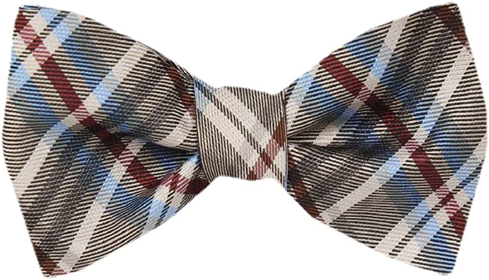FBTZ-1032 - Men's Silk Self Tie Bowtie Tie Yourself Bow Ties