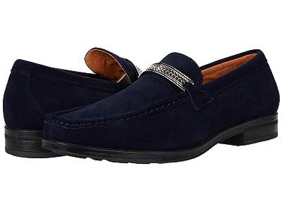 Stacy Adams Reginald Suede Slip-On Loafer (Navy) Men