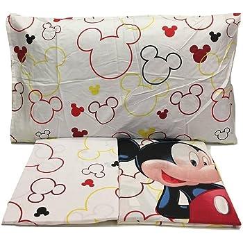 Disney Juego DE SÁBANAS 100% ALGODÓN Cama de 90 cm Rojo Modelo Mickey: Amazon.es: Hogar
