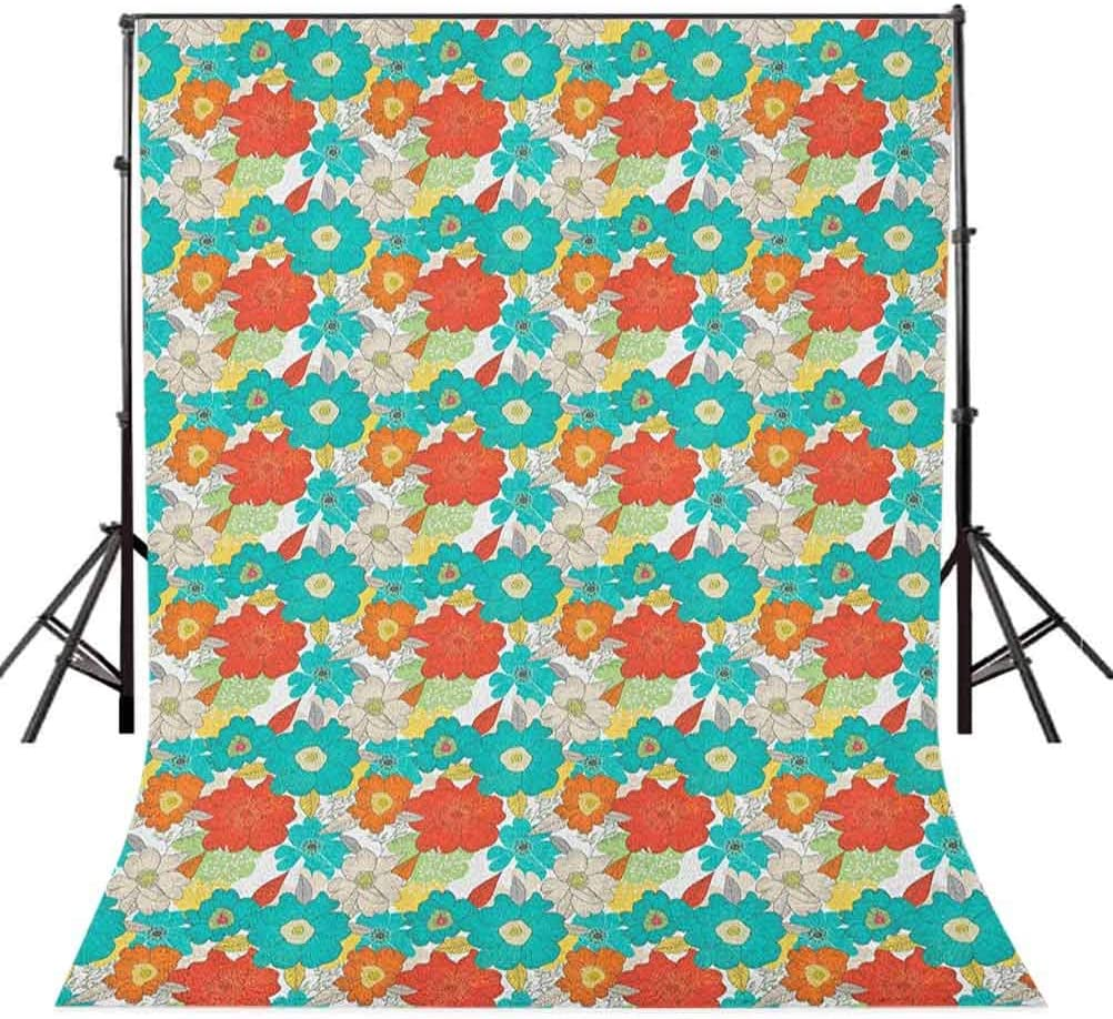 8x12 FT Vinyl Photography Backdrop,Butterflies and Floral Ornamanets Fantasy Design Colorful Vibrant Wings Artwork Background for Graduation Prom Dance Decor Photo Booth Studio Prop Banner