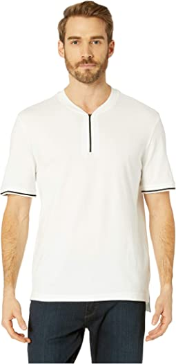 Short Sleeve 1/4 Zip Solid