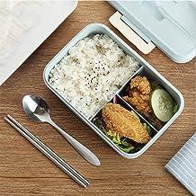 LINGE Juego de vajilla de plástico, Cocina, microondas, Caja de bento, Recipiente de Almacenamiento, 6
